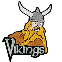 Viking Mascot embroidery design
