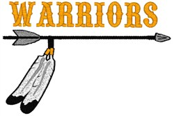 Warrior Mascot embroidery design