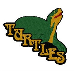 Turtles Mascot embroidery design