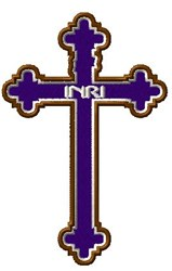 INRI Cross embroidery design