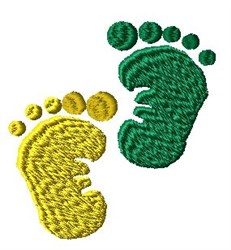 Babies Feet embroidery design