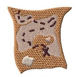 Treasure Map embroidery design