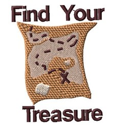 Find Your Treasure embroidery design