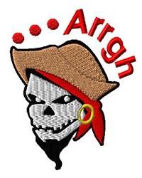Pirate Arrgh embroidery design