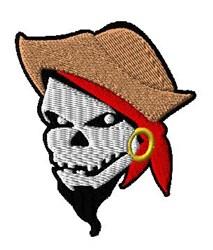 Skeleton Pirate embroidery design