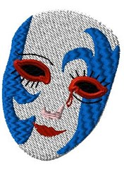 A Mardi Gras Mask embroidery design