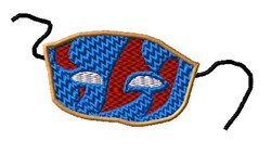 Mardis Gras Face Mask embroidery design
