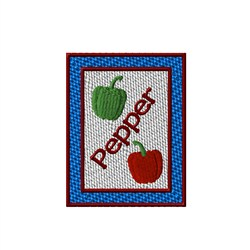 Pepper Seed Packet embroidery design