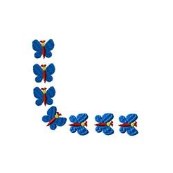 Corner Butterflies embroidery design