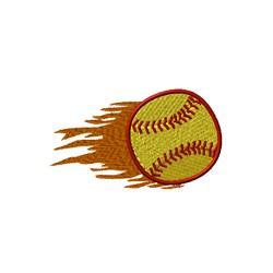Flame Softball embroidery design