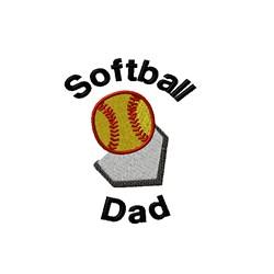 Softball Dad embroidery design