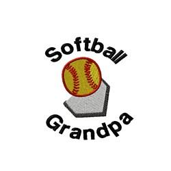 Softball Grandpa embroidery design