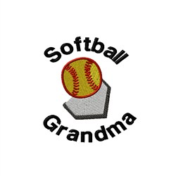 Softball Grandma embroidery design