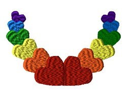 Raindbow Hearts embroidery design