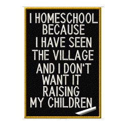 I Homeschool embroidery design