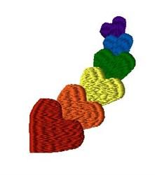 Rainbow Hearts embroidery design