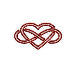 Infinity Heart embroidery design