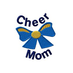 Cheer Mom Bow embroidery design