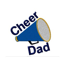 Cheer Dad Megaphone embroidery design