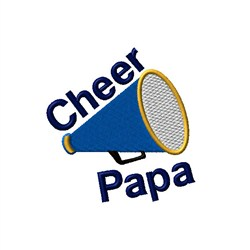 Cheer Papa Megaphone embroidery design