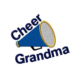 Cheer Grandma Megaphone embroidery design