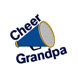 Cheer Grandpa Megaphone embroidery design