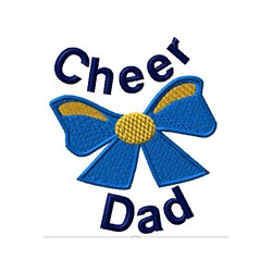 Cheer Dad Bow embroidery design