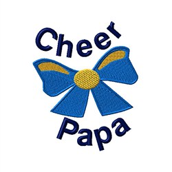 Cheer Papa Bow embroidery design