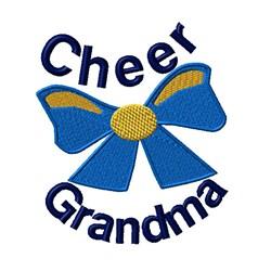 Cheer Grandma Bow embroidery design