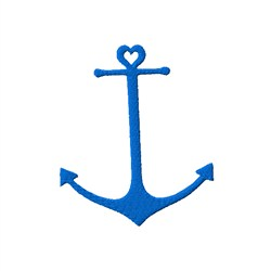 Anchor And Heart embroidery design