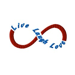 Infinity Symbol Love Laugh embroidery design