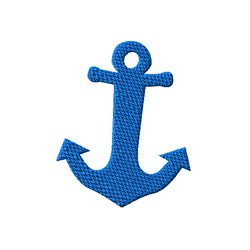 Thick  Anchor embroidery design