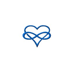 Mini Infinity Heart embroidery design