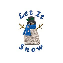 Country Holidays Snowman embroidery design