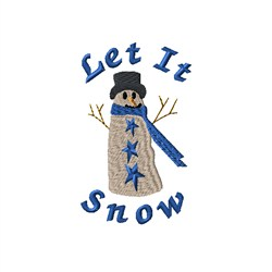 Let It Snow Snowman embroidery design