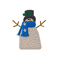 Country Snowman embroidery design