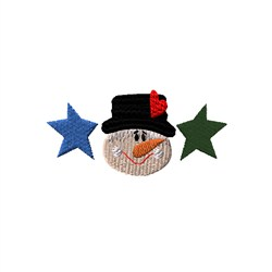 Country Snowman and Stars embroidery design