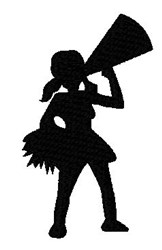 Silhouette Cheerleader embroidery design