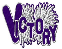 Victory Cheer embroidery design