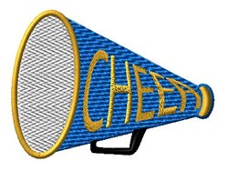 Cheer Megaphone embroidery design