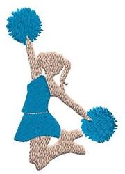Jumping Cheerleader embroidery design