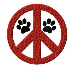 Peace Paws embroidery design