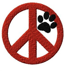Paw Peace embroidery design