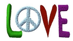 Peace in Love embroidery design