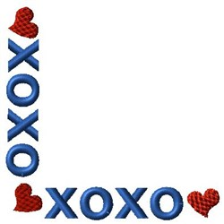 XOXO Corner embroidery design
