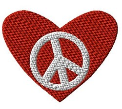 Peace in Heart embroidery design
