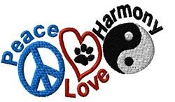 Dog Paw & Symbols embroidery design