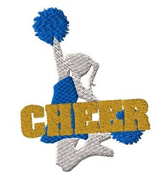 Jumping Cheerleader embroidery design