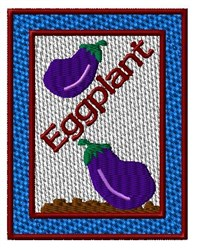 Seed Packet - Eggplant embroidery design