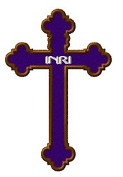 INRI - Easter Cross embroidery design